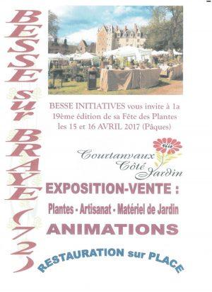 Château de Courtanvaux fête des plantes avril 2017