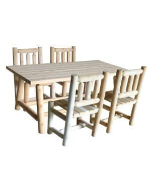wooden large dining table and chairs