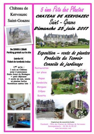 château de kervoazec fête des plantes juin 2017