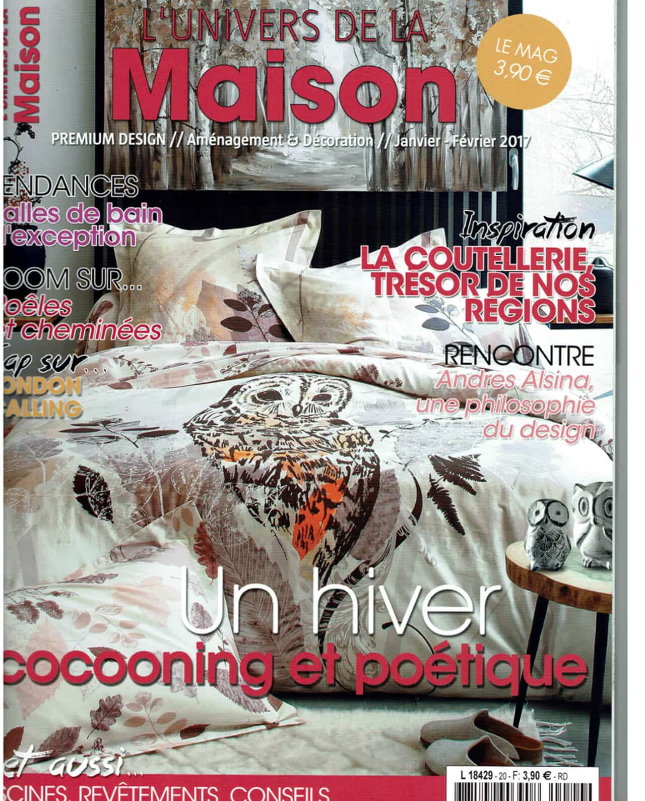 magazine l 39 univers de la maison janvier 2017 c dre rondins. Black Bedroom Furniture Sets. Home Design Ideas