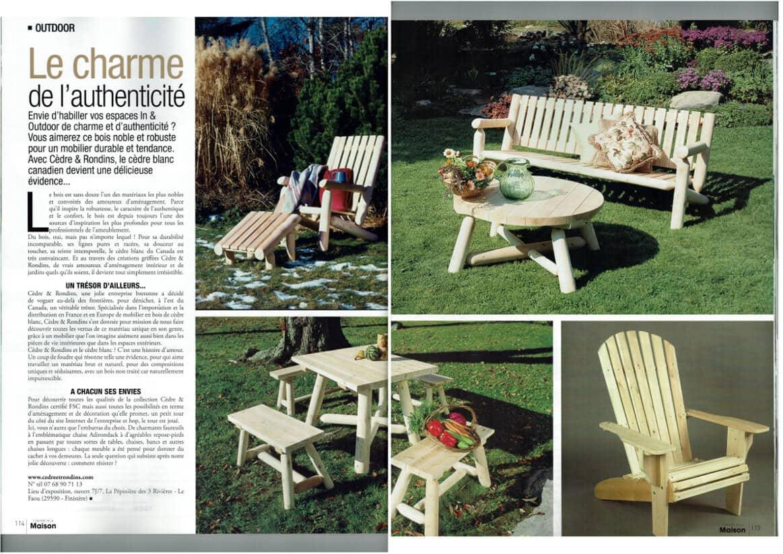 Magazine L'UNIVERS DE LA MAISON – janvier 2017
