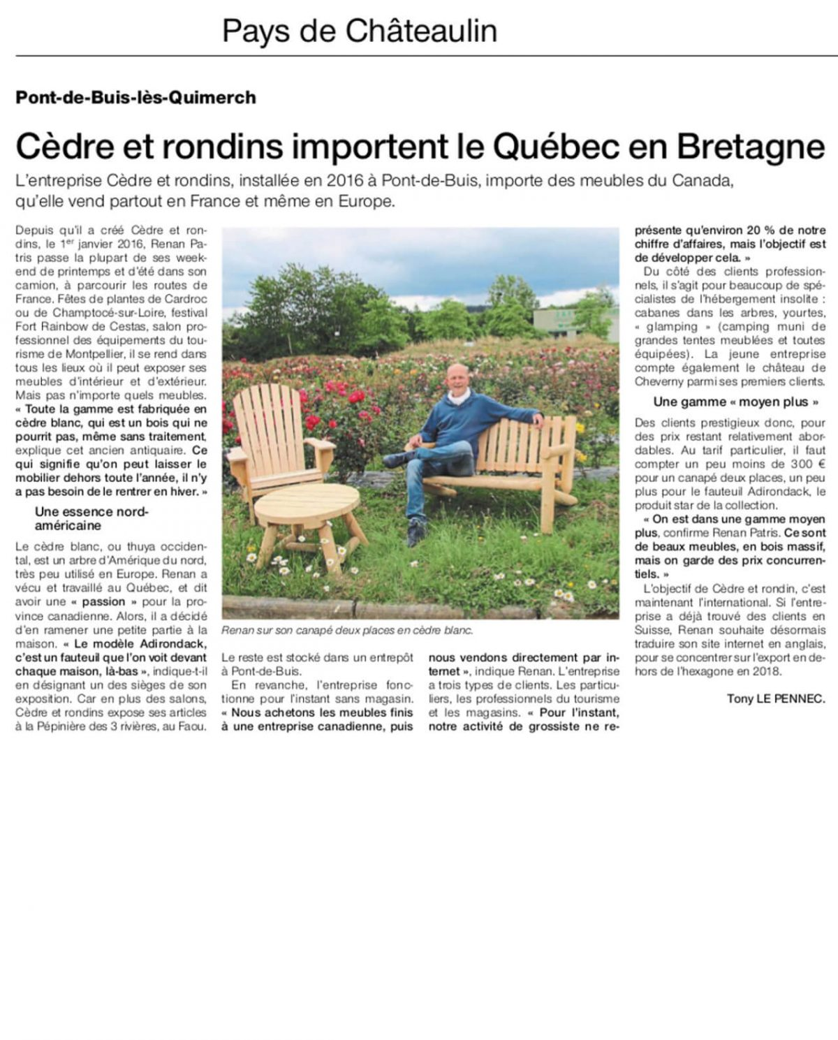 OUEST FRANCE Newspaper – July 18th, 2017