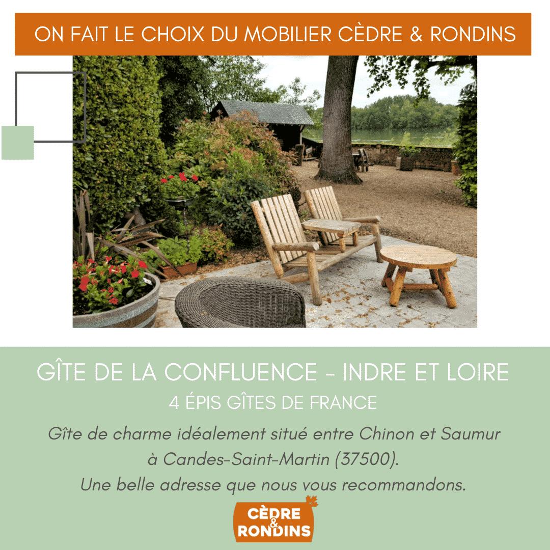 Le Gîte de la Confluence en Indre et Loire – 4****