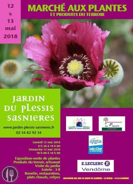marché aux plantes jardin du plessis sasnières mai 2018