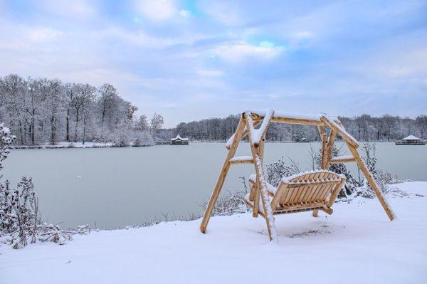 B26KD balancelle en bois neige