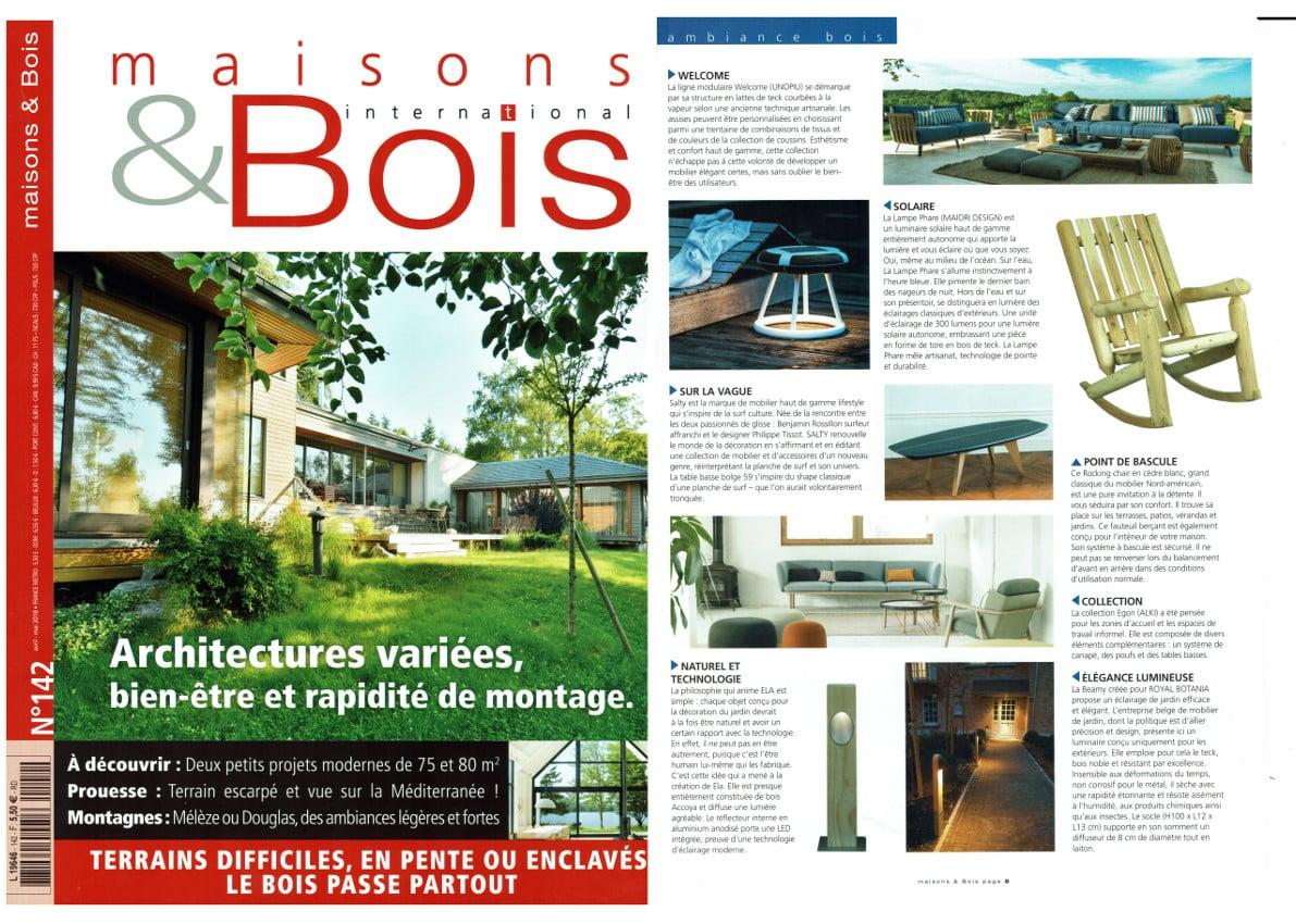 Magazine MAISONS ET BOIS INTERNATIONAL 2018 - Cèdre & Rondins