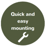 mounting quick and easy
