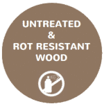 untreated rot resistant wood