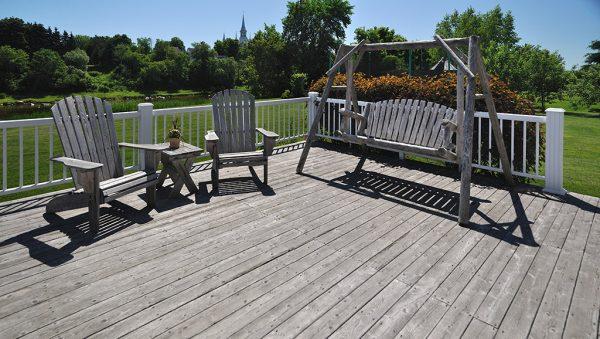 lames de terrasse grisées