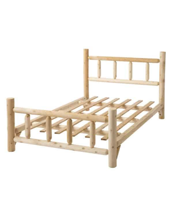 lit 2 places en bois
