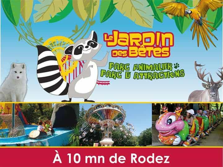 Parc zoologique Jardin des Bêtes en Aveyron – France