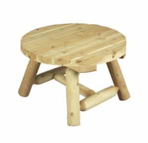table basse de jardin en bois naturel