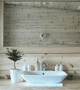 meubles salle de bain décorée