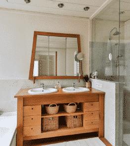 meubles bois salle de bain moderne