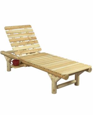 bain de soleil Chaise longue en bois B17
