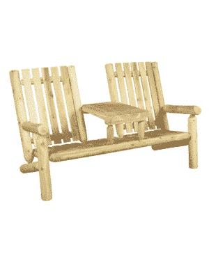 fauteuil 2 place bois B7TTKD