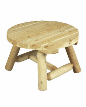 table basse ronde bois petite B9