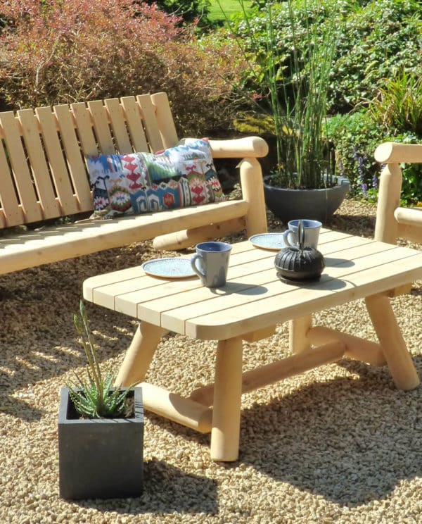 table basse jardin bois B90A