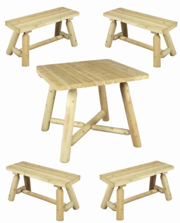 table bois repas avec banc R2S