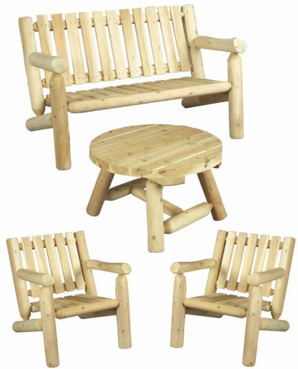 fauteuil canape table basse bois S1