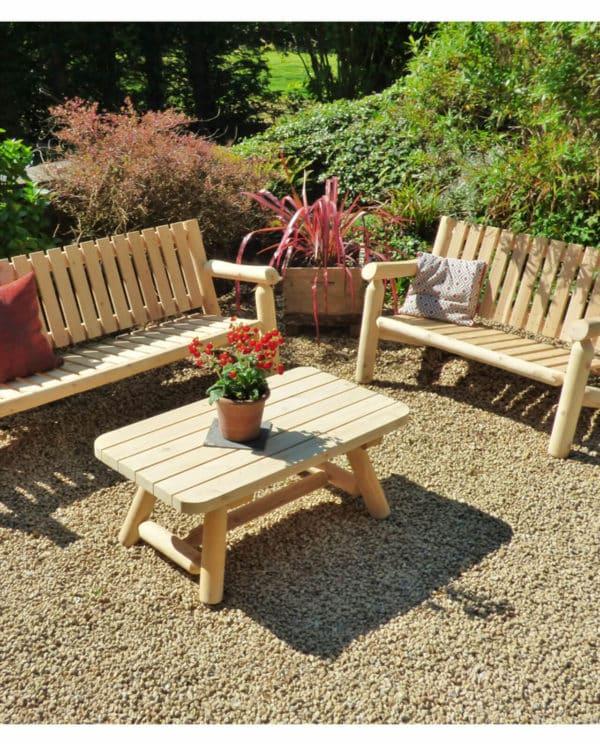 salon de jardin en bois S4
