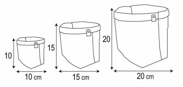 cache pot dimensions