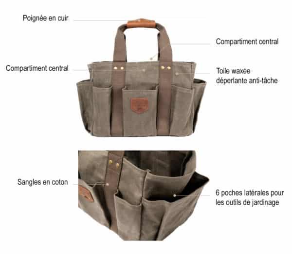 sac outils jardinage gardener descriptif