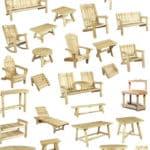 mobilier bois cedre blenc