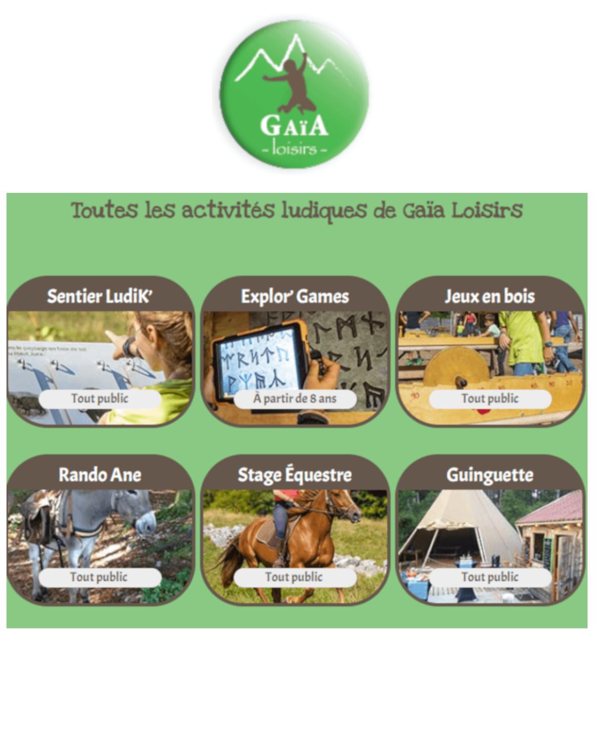 Gaia Loisirs à Lamoura, Les Rousses – Haut Jura