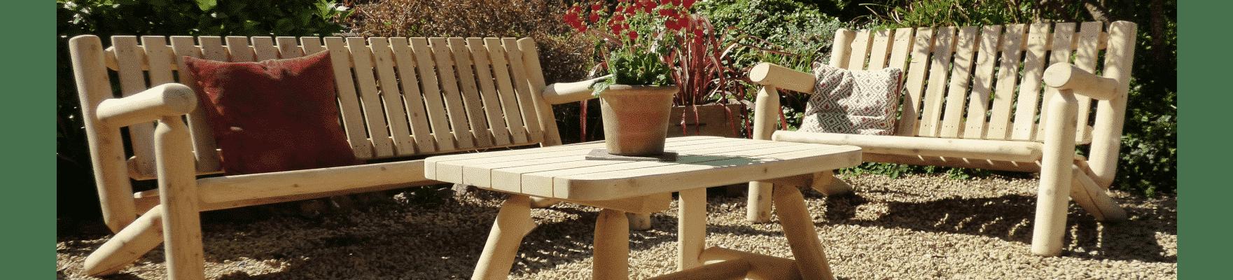 salon bois jardin